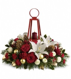 WILLIAMSBURG Lantern Centerpiece by Teleflora