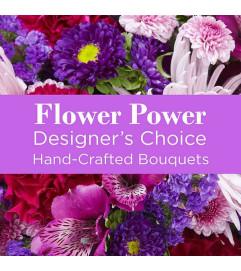 Purple Colors Florist Designed Bouquet