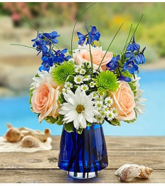 Summer Dunes™ in Blue Cobalt Vase