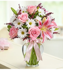 Mother's Embrace™ in a Clear Vase