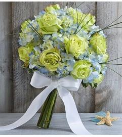 Beach Wedding Rose and Hydrangea Bouquet