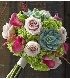Vineyard Wedding Mixed Bouquet