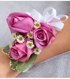Purple Elegance Corsage - Rose