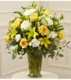 Beautiful Blessings Vase Arrangement - Yellow