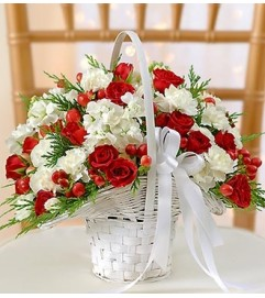 Holiday Flower Girl Arrangement