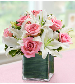 Expressions of Pink™ In a Cube Vase