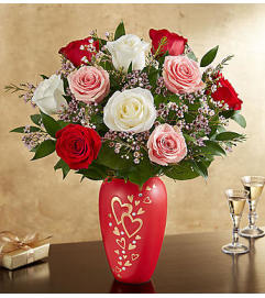 Romantic Medley in Follow Your Heart™ Vase