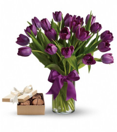Purple Tulips Gift Set
