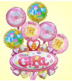 Baby Girl Marquee Mylar Bundle