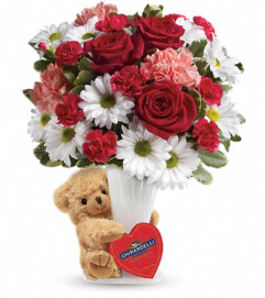 Teleflora's Send a Hug® Bear Your Heart Bouquet