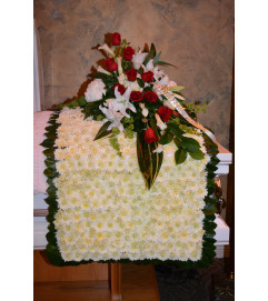 Wrapped in Love Casket Spray and Blanket
