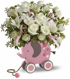 MiGi Baby Elephant by Teleflora - Pink