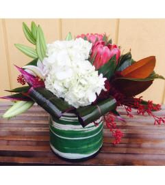 Hydrangeas and Proteas Bouquet