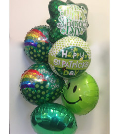 St. Patrick's Day Mylar Balloon Bouquet