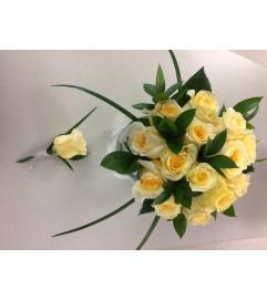 Bridesmaid Yellow Rose Bouquet Set