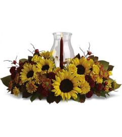 Sunflower Centerpiece with Hurricane Shade