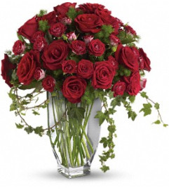 Rose Romanesque Bouquet - Red Roses - by Jennifer's Flowers