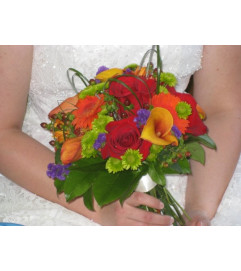 Bright Fall handtied Bouquet