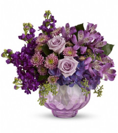 Teleflora's Lush and Lavender with Roses