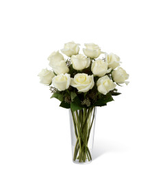 The FTD® White Rose Bouquet