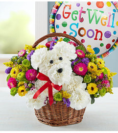 a-DOG-able® in a Basket - Get Well