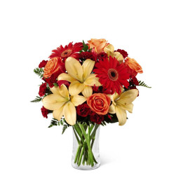 The FTD® Autumn Roads™ Bouquet with Lilies
