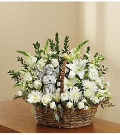 Heavenly Angel™ All White Basket