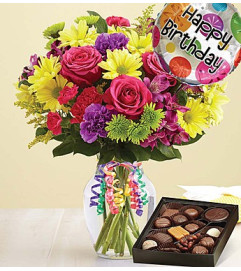 It's Your Day Bouquet® Happy Birthday with Chocolate