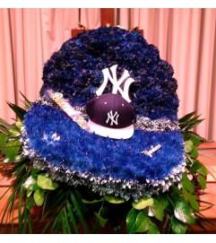 Funeral Custom Yankee Hat Sympathy Piece