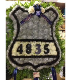 Custom Funeral Police Badge Sympathy
