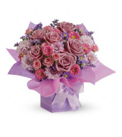 Perfectly Purple Present Bouquet
