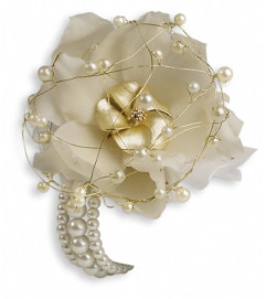Shimmering Pearls Corsage