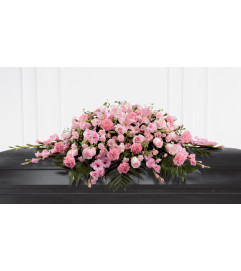 The FTD® Sweetly Rest™ Casket Spray