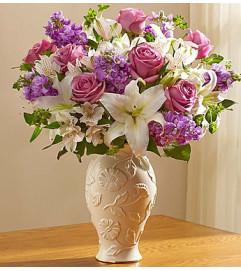 Loving Blooms in Lenox® Lavender & White