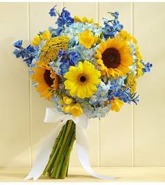Country Wedding Sunflower Mixed Bouquet