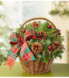 Christmas Evergreen Basket