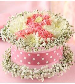 Fresh Flower Cake™ Pink Ribbon