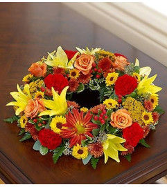 Cremation Wreath - Fall