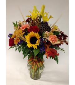 A Vibrant Fall Vase