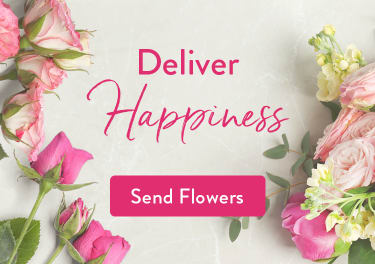 Pink roses, stock, eucalyptus, and florist shears - flower delivery in Maple