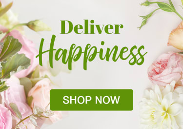 Bouquet of pink and green pastel flowers and florist shears - flower delivery in Markham