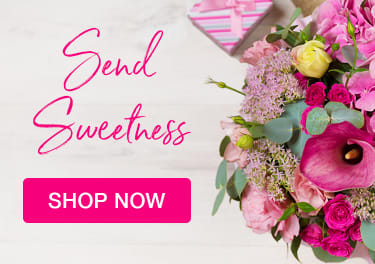 Bright pink bouquet of flowers for Valentine's Day - flower delivery in Rockford