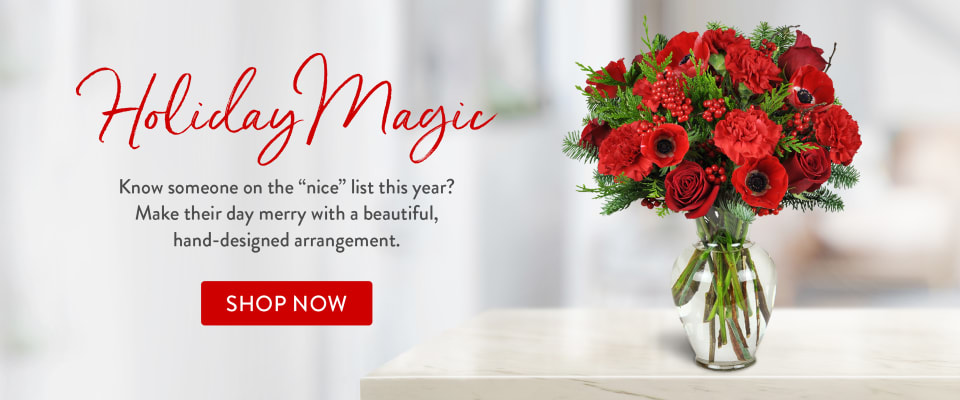 Red flower bouquet for Christmas gifting - flower delivery in Orillia