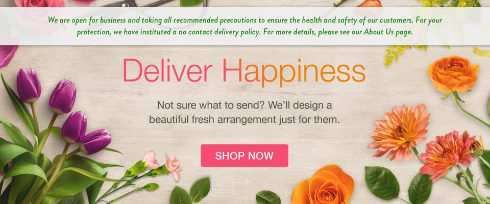 Image announcing temporary delivery policies - flower delivery in Gatineau, QC & Ottawa, ON