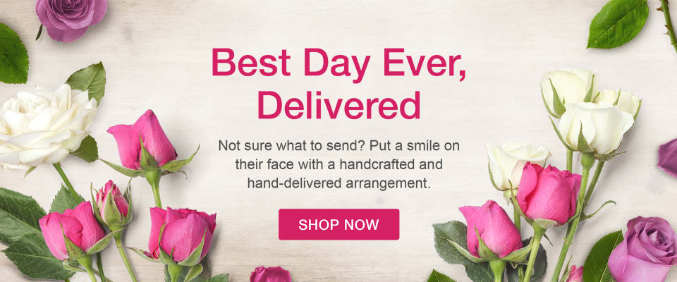 Pink, white, and lavender roses for a floral arrangement - flower delivery in Fredericton