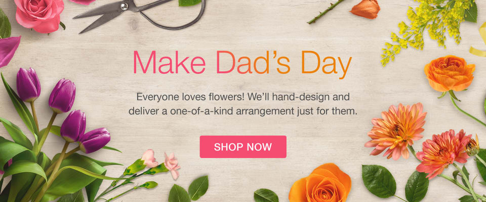 An array of colorful flowers to celebrate Father's Day - flower delivery in Waverly