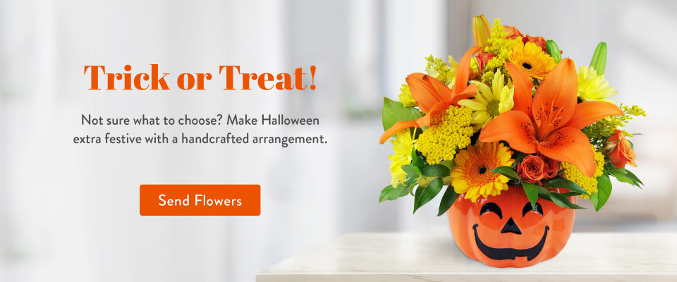 Halloween flower arrangement - flower delivery in Hollywood