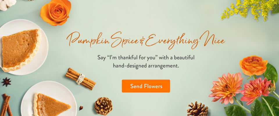 Celebrate Thanksgiving with a beautiful arrangement - flower delivery in Hayward