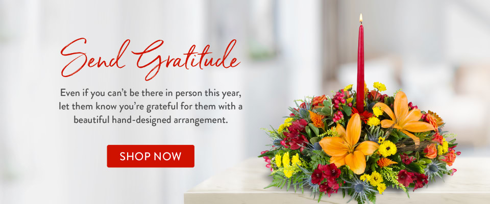 Thanksgiving flower centerpiece - flower delivery in Blue Springs