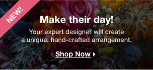 Your expert designer will create a unique hand-crafted arrangement.